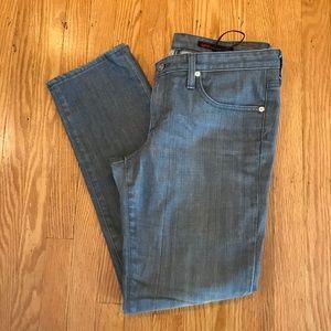 AG the stilt grey skinny straight leg jeans 31
